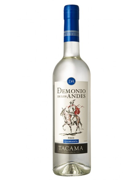 Pisco Demonio de los Andes Quebranta Botella 70cl